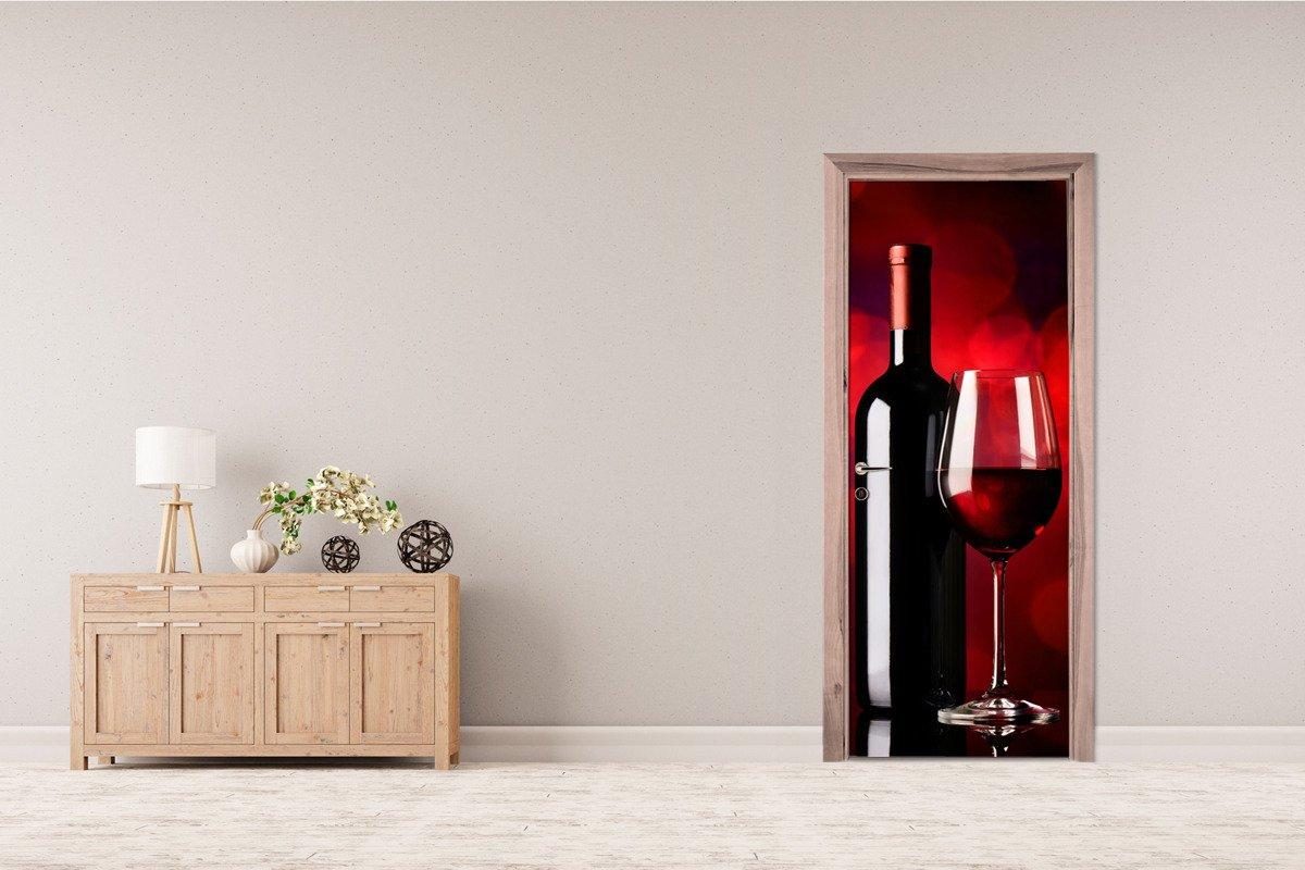 Naklejka Na Drzwi Czerwone Wino