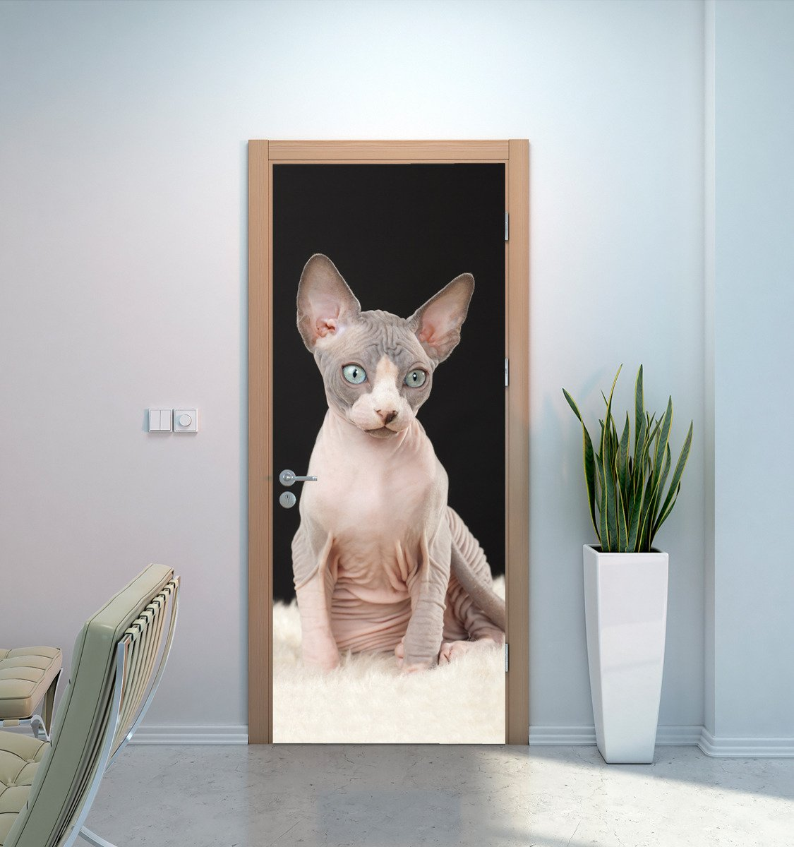 Naklejka Na Drzwi Kot Sfinks