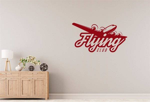 Naklejka na ścianę do salonu – Flying club X0250