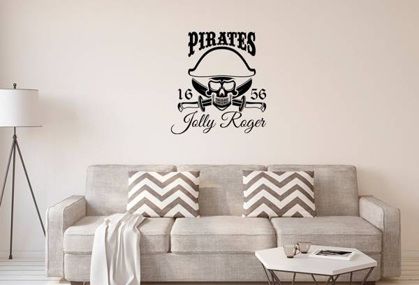 Naklejka na ścianę do salonu – Pirat jolly roger X0258